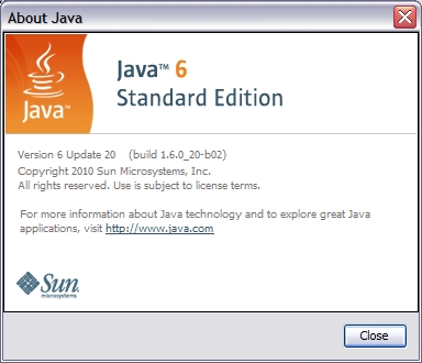 Java version about screen