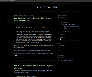 An example of what a Blogger blog looks like