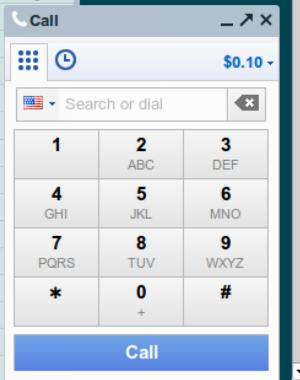 The numberpad in Google Chat