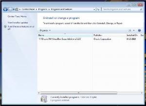 Removing Programs in Windows 7
