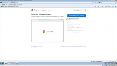 The Google Chrome Download Page