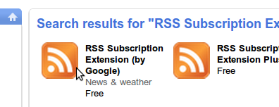 Choose the RSS extension by Google