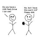 A cartoon about USB flash drives